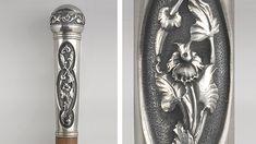 10 baston, plata 925, cincelado, madera Wooden Walking Sticks, Walking Canes, Dremel, Sword, Cosplay, Antiques, Illustration, Weapons Guns, Buenos Aires