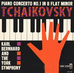 Sam Suliman, sleeve design for Piano Concerto No 1 by Tchaikovsky, n.d.