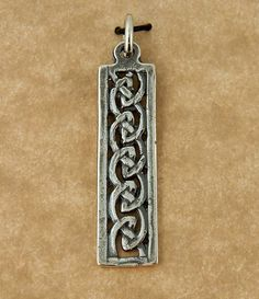 Sterling silver Celtic Knot Irish Weave pendant by celtictreasures