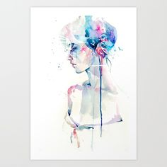 loss Art Print by agnes-cecile | Society6