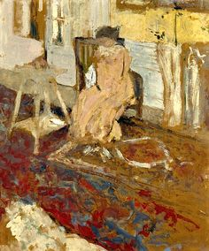 Edouard Vuillard / Madame Arthur Fontaine au tapis de Smyrne