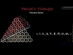 Fibonacci series or Fibonacci Numbers in Pascal's Triangle - YouTube
