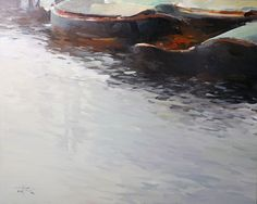 Barges In London by Tony Belobrajdic
