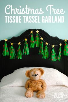 Christmas Tree Tissue Garland by The Party Teacher