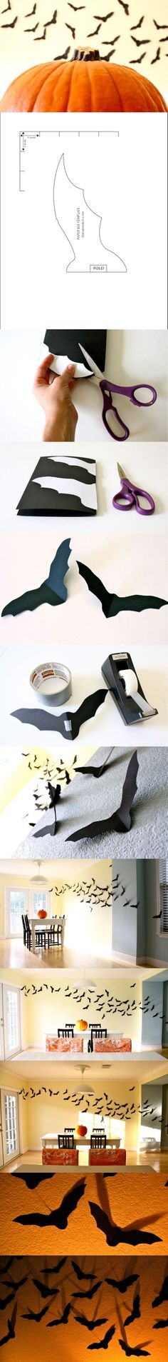 Wall of Bats Click Pic for 27 DIY Halloween Decorating Ideas for - halloween do it yourself decorations