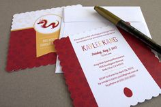 Hot Off The Press! Red Egg And Ginger Party Invitations