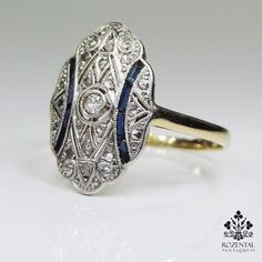Period: Art deco Composition: gold and Platinum Stones: - 1 Old mine cut diamond of quality that weighs - 14 Rose cut diamonds of quality that weigh - 8 n Art Deco Diamond, Art Deco Ring, Art Deco Jewelry, Fine Jewelry, Jewelry Design, Antique Rings, Vintage Rings, Antique Jewelry, Vintage Jewelry