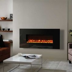 Gazco Radiance 100W Black Glass Electric Wall Mounted Fire