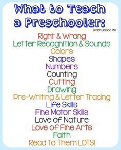 What To Teach a Preschooler : Homeschool Preschool More