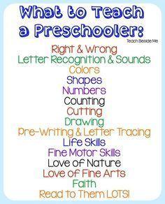 What To Teach a Preschooler : Homeschool Preschool