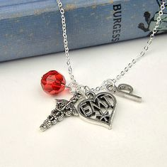 Personalized EMT Necklace with Your Initial by InitiallyCharming, $10.00
