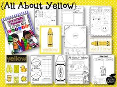 All About the Color Yellow (free; from Apples & ABC's via Miss Kindergarten: Try it Free Tuesday)