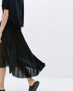 ZARA - WOMAN - アシンメトリープリーツスカート