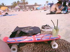 En barcelona disfrutando de la playa