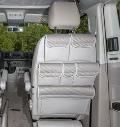 "UTILITY für Fahrer-/Beifahrersitz VW T6/T5 California Beach/Multivan/Multivan Startline. Design: ""Pilion/Leder Moonrock""."