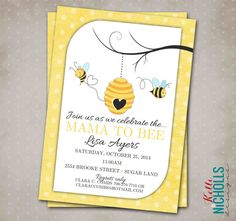 Hey, I found this really awesome Etsy listing at https://www.etsy.com/listing/201572000/bumble-bee-baby-shower-invitation-custom