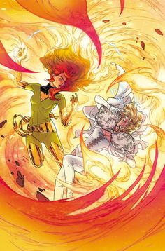 X-Force Dark Phoenix Saga Anniversary variant cover - Jean Grey vs. Emma Frost by Russell Dauterman, colours by Matt Wilson * Dark Phoenix, Phoenix Marvel, Phoenix Force, Phoenix Art, Marvel Comics Art, Marvel X, Captain Marvel, Punisher Marvel, Marvel Women