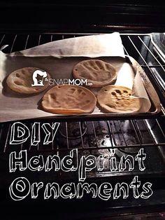 DIY Handprint Ornaments - The Snap Mom