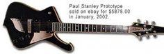 The Ibanez Paul Stanley Iceman guitar.