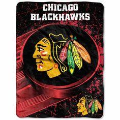 Chicago Blackhawks 46'' x 60'' Ice Dash Micro Raschel Throw Blanket - $17.99