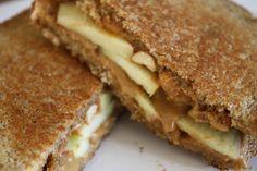 Peanut Butter, Apple & Nut Grilled Sandwich