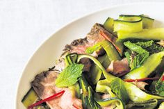 Rare beef cucumber chilli and mint recipe, Bite – Cool and light ampmdash this could be the perfect summer dinner - Eat Well (formerly Bite) Sherry Vinegar, Mint Recipes, Cucumber, Paleo, Beef, Dinner, Vegetables, Black, Food