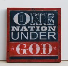 One nation under god by emilyrooneydesigns on etsy, $128.00