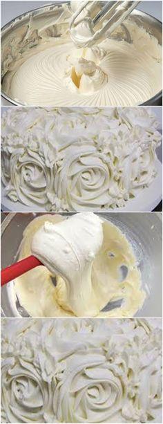 Glacê de Leite em pó não Derrete Fora da Geladeira! VEJA AQUI>>>Junte todos os ingredientes de uma só vez na batedeira. Bata em velocidade máxima até o ponto de glacê. #receita#bolo#torta#doce#sobremesa#aniversario#pudim#mousse#pave#Cheesecake#chocolate#confeitaria