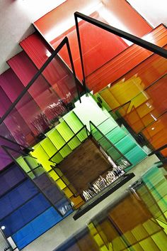 colourful stairs #Treppen #Stairs #Escaleras repinned by www.smg-treppen.de