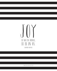 Joy in My Life + a Free Printable! — Photo Card Boutique