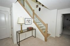 White oak and glass staircase