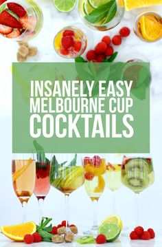 6 Cocktail Recipes To Get You Through Your Office's Melbourne Cup Party