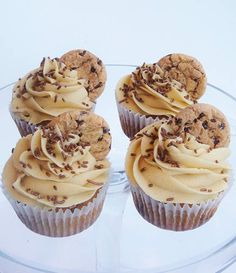 Chocolate Chip Cookie Dough Cupcakes by Lydia Bakes