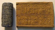 Cylinder Seal of Queen Puabi of ancient UR.