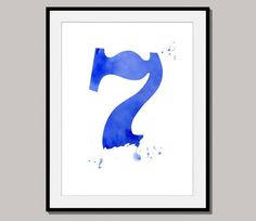 SEVEN 7 giclee print poster designed for 10 x 8 by interiorart, $15.00