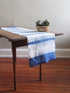 c87e50fba5b8 Shibori table runner from Flora Poste Studio Luxury Dining Tables