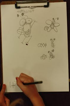 Fly Guy! Kindergartners can draw Fly Guy so well! So cute! This includes math activity!