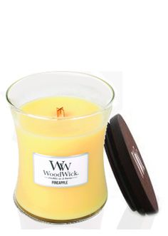 Woodwick Summer Fruits Pineapple Medium Jar Candle