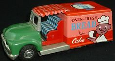 Vintage Tin Toy Bread Truck Made in Japan Friction 1960S | eBay