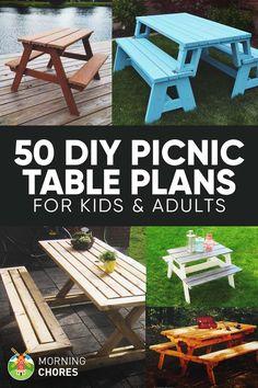 Picnic Table Plans on Pinterest | Kids Picnic Table, Children's Picnic ...