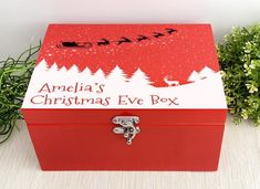 Christmas Pjs, Christmas Treats, Elephant Necklace Silver, Personalised Christmas Eve Box, Silver Logo, Santa And Reindeer, Gift Wrapping Services, White Gift Boxes, Family Traditions