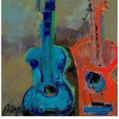 Trademark Fine Art Red and Blue Canvas Art, Size: 24 x 24, Multicolor