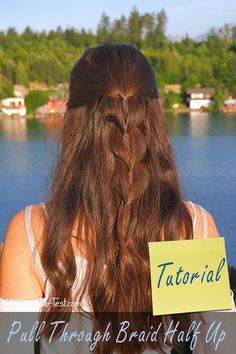 Here you will find an easy tutorial for a Pull Through Braid Half Up . Braid Half Up Half Down, Braided Half Up, Pull Through Braid, Braids, Dreadlocks, Long Hair Styles, Beauty, Hairstyles, Blog
