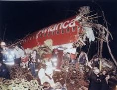 January 25 -Avianca Flight 52 crashes into Cove Neck, Long Island, New York after a miscommunication between the flight crew and JFK Airport officials, killing 73 people on board. Carolyn Bessette Kennedy, Kennedy Jr, Long Island, Christmas Bulbs, Product Launch, Joy, Holiday Decor, Planes, January