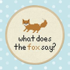 What does the fox say. Fox Cross Stitch Pattern PDF by andwabisabi, $4.00