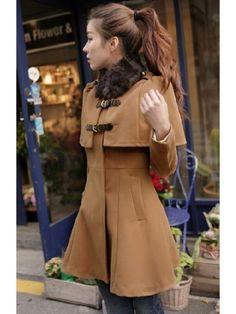 new top quality korea thicker tweed coat girl Cloak Cape woolen overcoat outwear Latest Fashion Trends, Fashion News, High Fashion, Fashion Cape, Fashion Dolls, Women's Fashion, Coats For Women, Jackets For Women, Clothes For Women