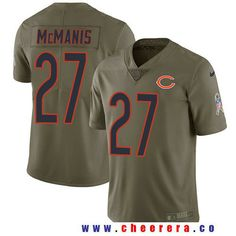 Men's Chicago Bears #27 Sherrick McManis Olive 2017 Salute To Service Stitched NFL Nike Limited Jersey