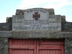 knights templar in scotland   Dedication plaque from Knights Templar in Scotland