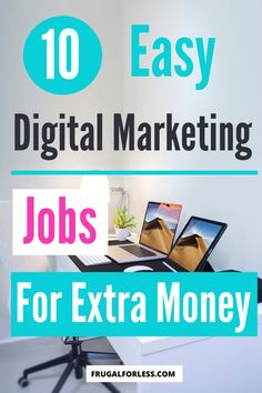 10 easy digital marketing jobs for extra money. If you're looking to make some extra money at home and work online, or are looking for a remote job, these are some great options for both full-time and part-time work. Make Money Fast, Ways To Save Money, Make Money Online, Marketing Jobs, Digital Marketing, Single Mom Jobs, Accounting Jobs, Survey Sites That Pay, Social Media Trends
