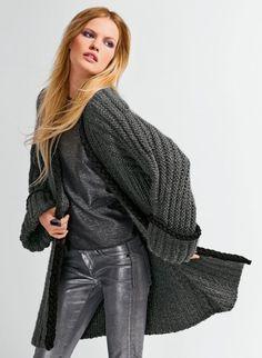 modele tricot veste longue femme gratuit